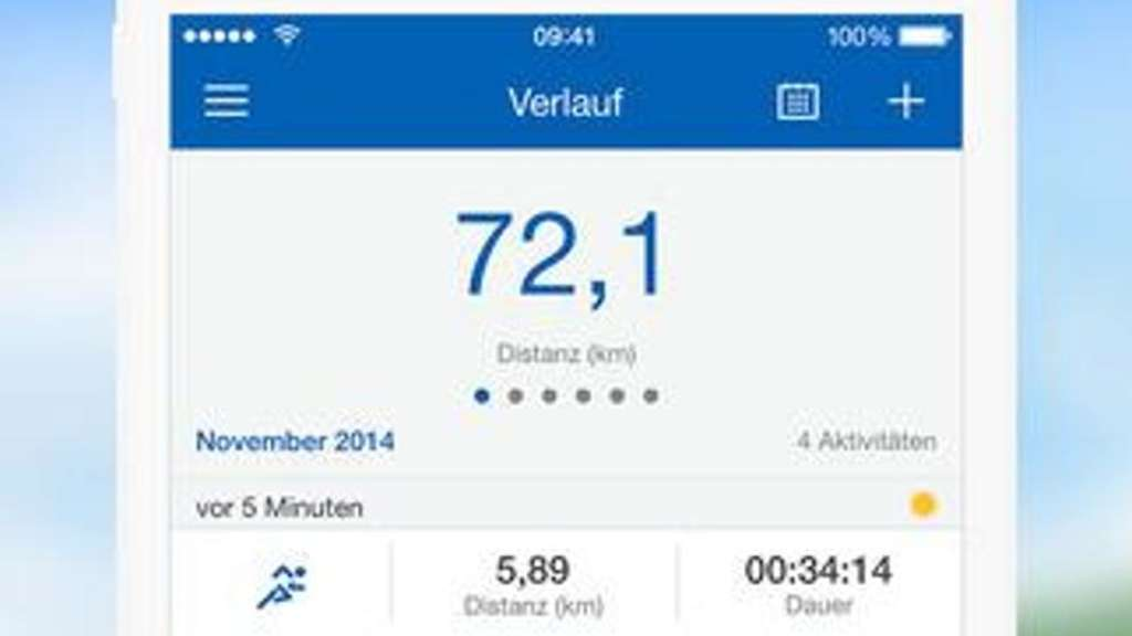 "Die iOS-App ""Runtastic Pro GPS"" bietet zahlreiche Funktionen für die Kontrolle über das eigene Trainingspensum. Screenshot: iTunes Foto: Screenshot: iTunes"