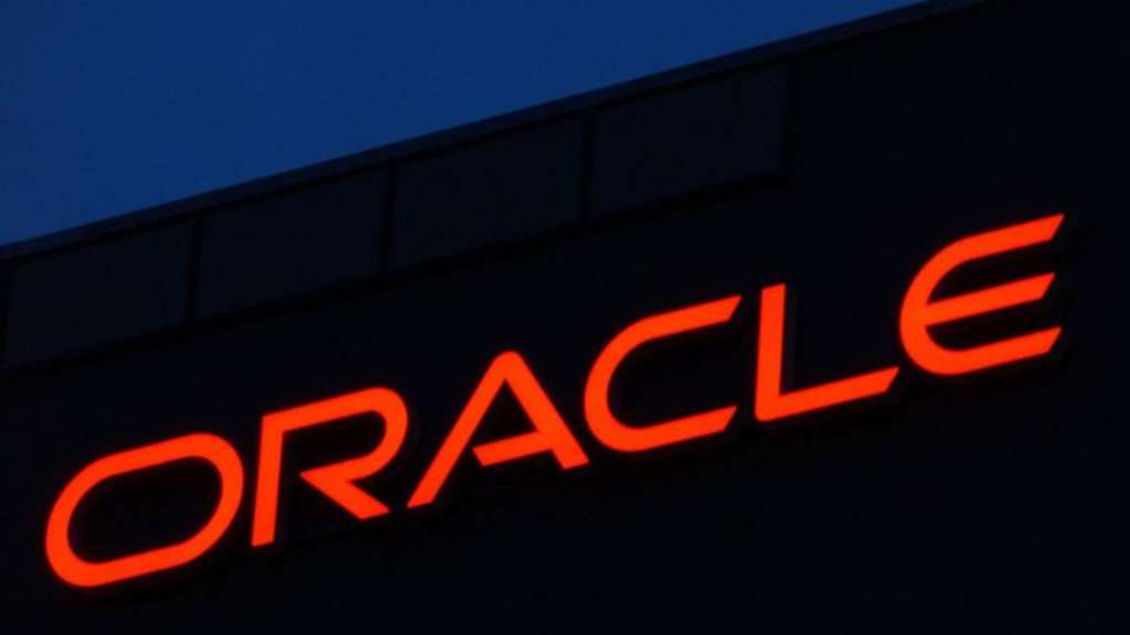 Das Logo des Softwarekonzernes Oracle. Foto: Ralf Hirschberger/Illustration