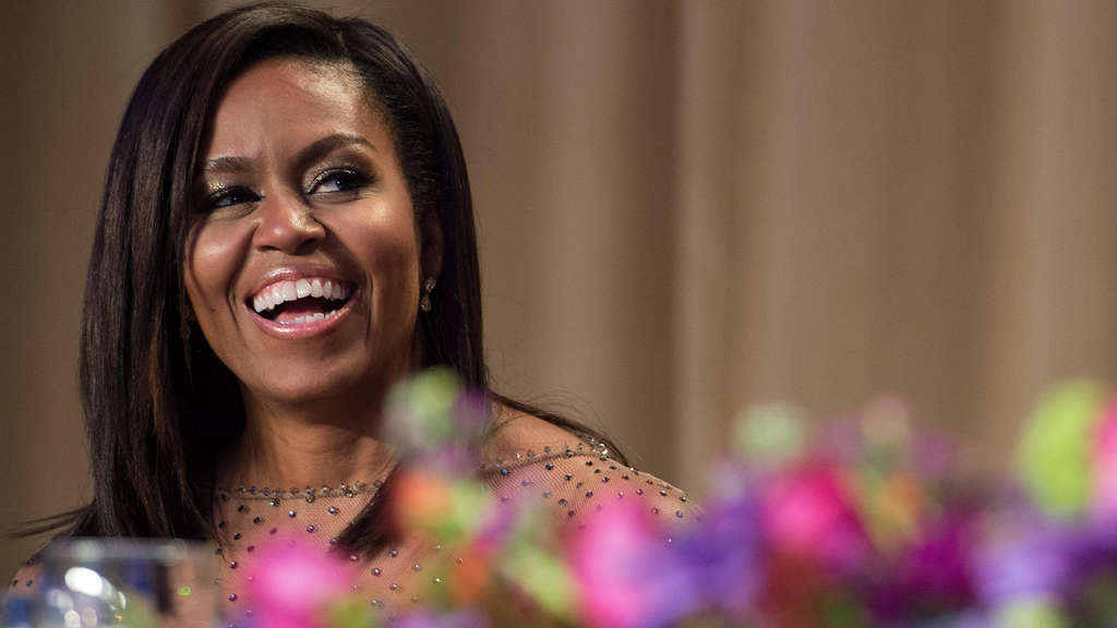 First Lady Michell Obama: Die Bad Emstalerin Carolin Belcher traf die Frau von Barack Obama zum Ladies Lunch in der US-Hauptstadt Washington. Foto:  afp