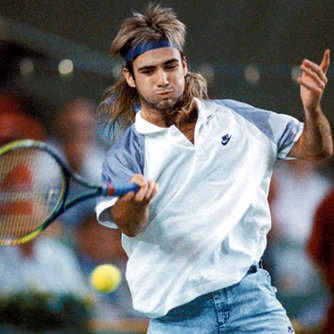 Andre Agassi: Mit Toupet zu den French Open