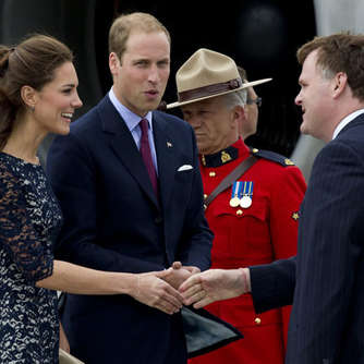 William und Kate in Kanada gelandet