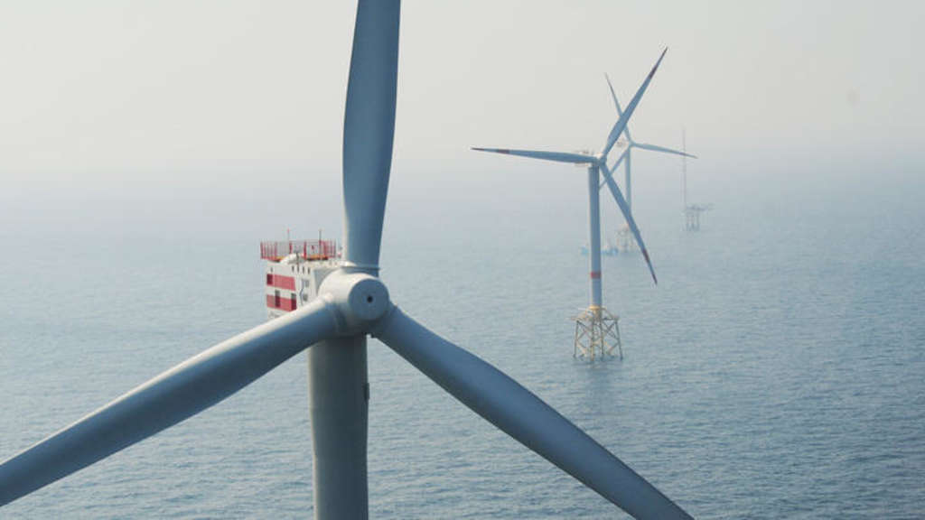 Der Offshore-Windpark Alpha Ventus in der Nordsee.