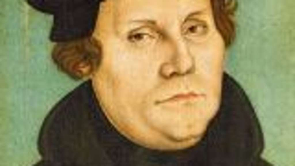 XPH308462 Luther as Professor, 1529 (oil on panel) by Cranach, Lucas, the Elder (1472-1553); Schlossmuseum, Weimar, Germany; (add.info.: Luther als Professor; Martin Luther (1483-1546);); German,  out of copyright