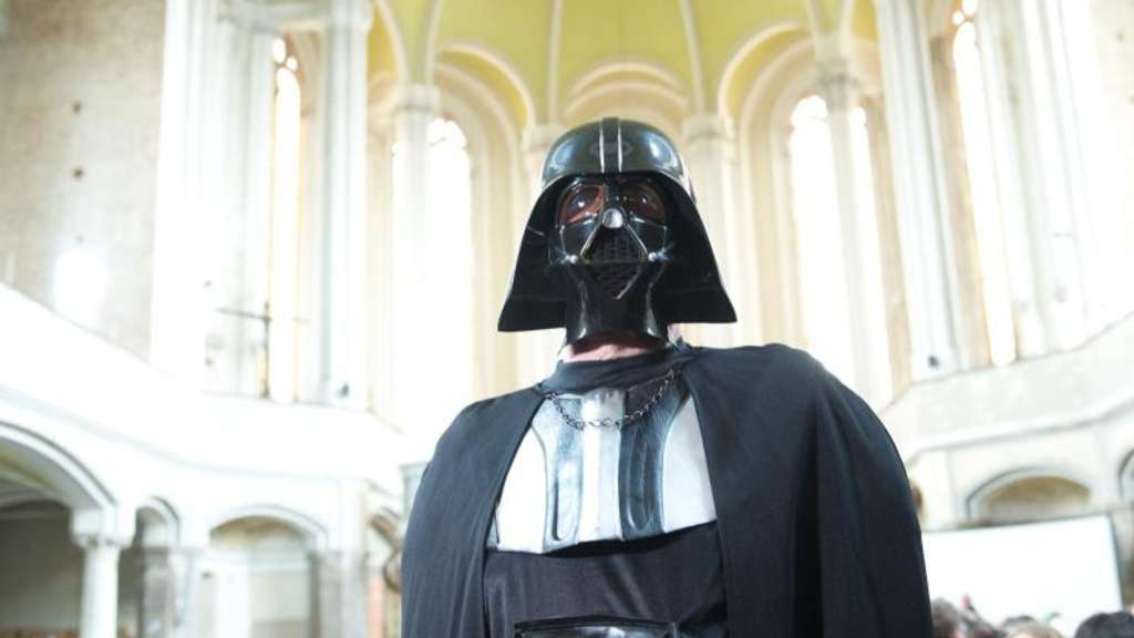 Darth Vader in Berlins Zionskirche. Foto: Jörg Carstensen