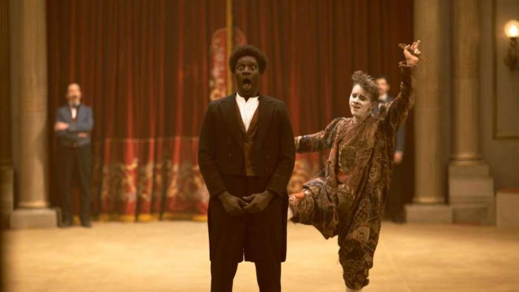 Ein lustiges Gespann: Monsieur Chocolat (Omar Sy) und der Clown Foottit (James Thiérrée). Foto: Julian Torres/DCM