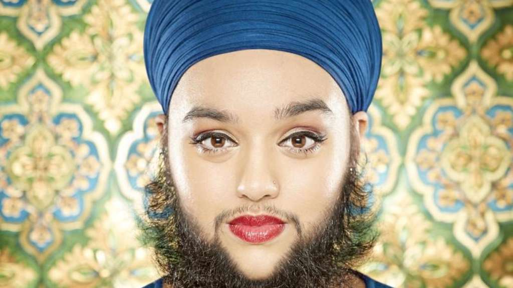 Harnaam Kaur hat es mit 24 Jahren als jüngste Vollbartträgerin ins Guinnessbuch der Rekorde 2017 geschafft. Foto: Paul Michael Hughes/Guinness World Records