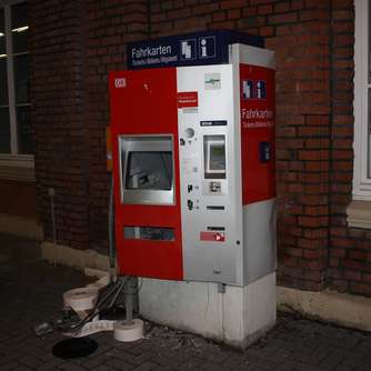 Ticketautomat gesprengt