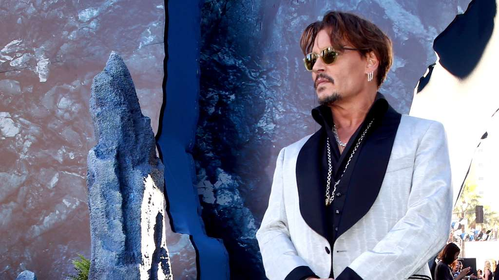 "US-Schauspieler Johnny Depp bei der Premiere des Films ""Pirates Of The Caribbean 5: Salazars Rache"" in Los Angeles."
