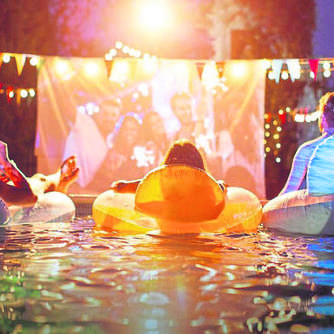 Premiere für Wasserkino in Willingen