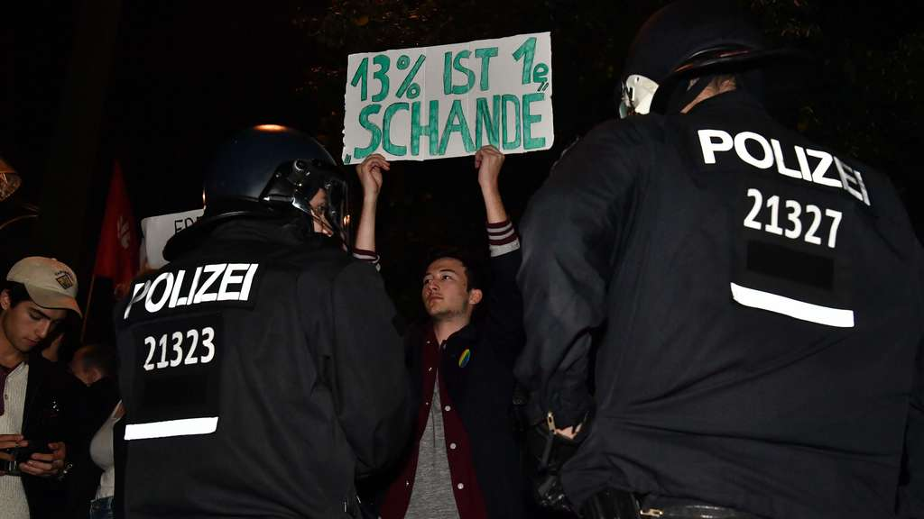 Anti-AfD-Schilder in Berlin