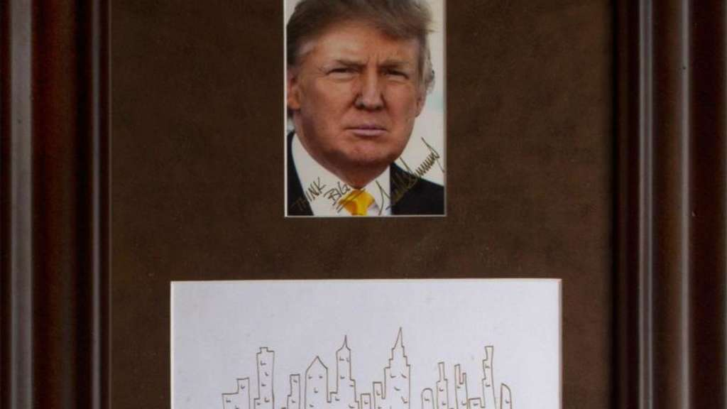 Donald Trump hat die Skyline von Manhatten verewigt. Foto: Nate D. Sanders Auctions