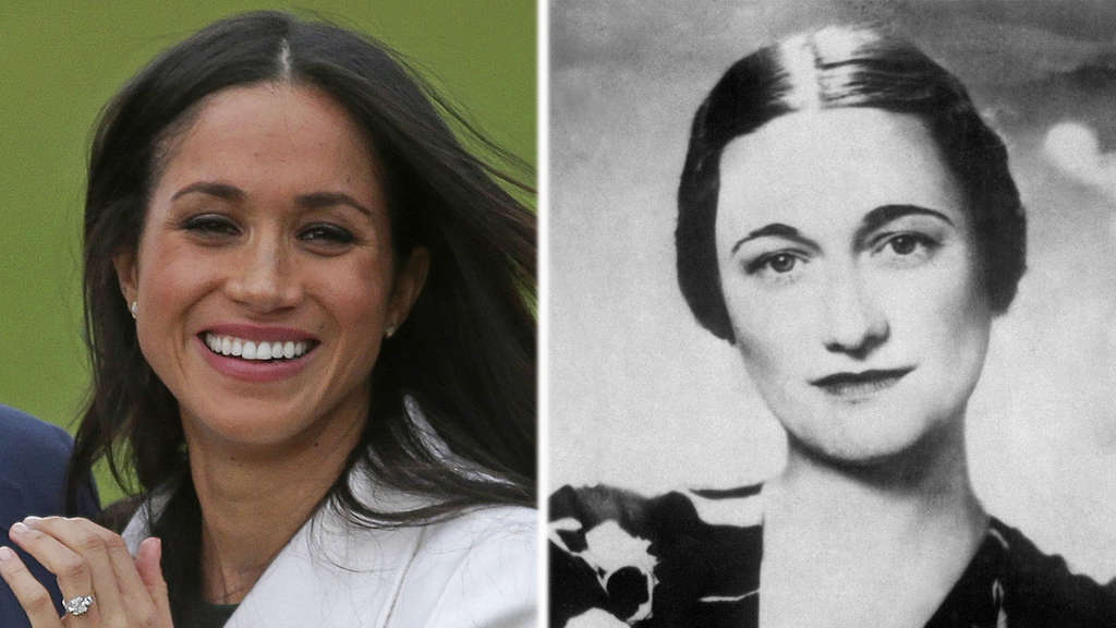 Geschiedene Amerikanerinnen, die einen Royal heirateten: Meghan Markle (links) und Wallis Simpson.