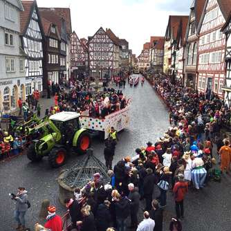 Im Video: So war der Rosenmontagsumzug in Fritzlar