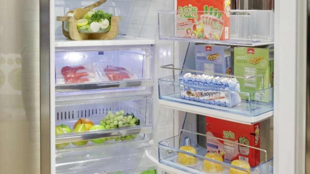 Unten Mitte oben Kühlschrank richtig einräumen