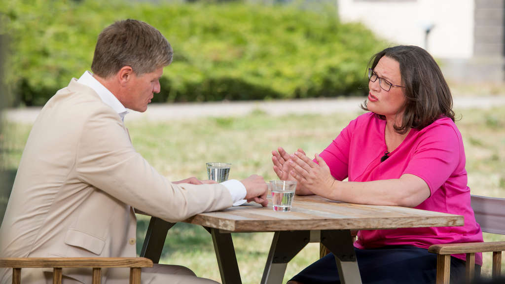 ZDF-Sommerinterview 2018 mit Andrea Nahles.