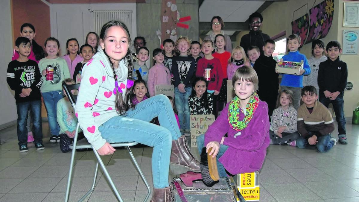 Darum ziehen Bad Arolser Grundschüler mit Schuhputzzeug
