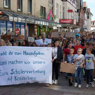 Fridays for Future: Etwa 200 Schüler demonstrierten in Frankenberg